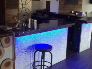 Black Concrete Countertop with Fiberoptics
