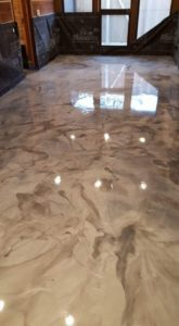 Metallic Marble Looking Floor